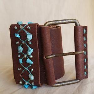 Garuglieri Brown Leather Belt